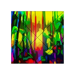 Abstract Vibrant Colour Botany Acrylic Tangram Puzzle (4  X 4 )