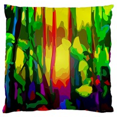 Abstract Vibrant Colour Botany Large Cushion Case (one Side)
