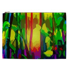 Abstract Vibrant Colour Botany Cosmetic Bag (xxl)