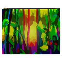 Abstract Vibrant Colour Botany Cosmetic Bag (xxxl)