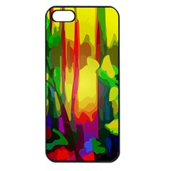 Abstract Vibrant Colour Botany Apple Iphone 5 Seamless Case (black)