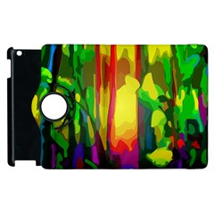 Abstract Vibrant Colour Botany Apple Ipad 3/4 Flip 360 Case