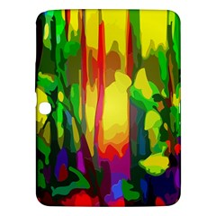 Abstract Vibrant Colour Botany Samsung Galaxy Tab 3 (10 1 ) P5200 Hardshell Case