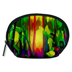 Abstract Vibrant Colour Botany Accessory Pouches (medium)