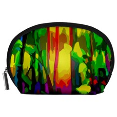 Abstract Vibrant Colour Botany Accessory Pouches (large)