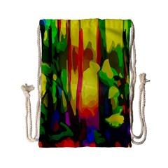 Abstract Vibrant Colour Botany Drawstring Bag (small)