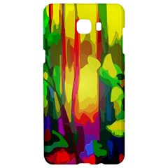 Abstract Vibrant Colour Botany Samsung C9 Pro Hardshell Case