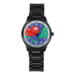Clipart Portrait Illustration Stainless Steel Round Watch