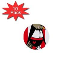 Bird Cute Design Cartoon Drawing 1  Mini Buttons (10 Pack)