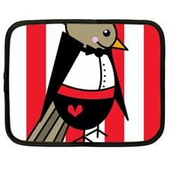 Bird Cute Design Cartoon Drawing Netbook Case (xxl)