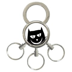 Cat Vector Clipart Figure Animals 3 Ring Key Chains