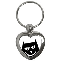 Cat Vector Clipart Figure Animals Key Chains (heart)