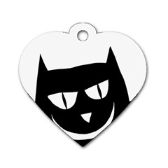 Cat Vector Clipart Figure Animals Dog Tag Heart (two Sides)