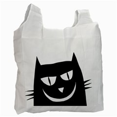 Cat Vector Clipart Figure Animals Recycle Bag (two Side)