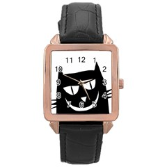 Cat Vector Clipart Figure Animals Rose Gold Leather Watch