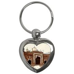 Agra Taj Mahal India Palace Key Chains (heart)