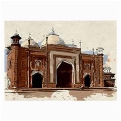 Agra Taj Mahal India Palace Large Glasses Cloth