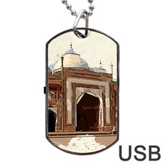 Agra Taj Mahal India Palace Dog Tag Usb Flash (two Sides)