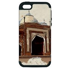 Agra Taj Mahal India Palace Apple Iphone 5 Hardshell Case (pc+silicone)