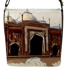 Agra Taj Mahal India Palace Flap Messenger Bag (s)