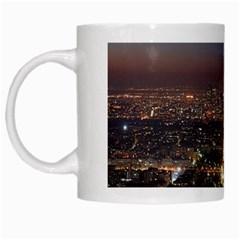 Paris At Night White Mugs