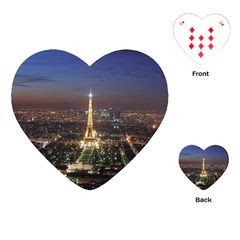 Paris At Night Playing Cards (heart)