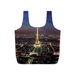 Paris At Night Full Print Recycle Bags (s)