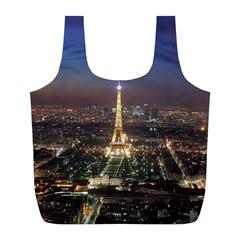 Paris At Night Full Print Recycle Bags (l)