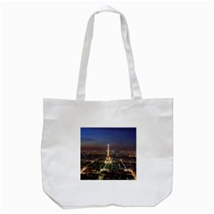 Paris At Night Tote Bag (white)