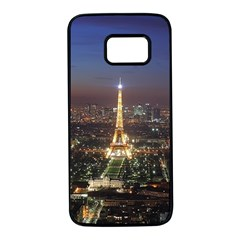 Paris At Night Samsung Galaxy S7 Black Seamless Case