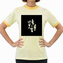 Kiss Band Logo Women s Fitted Ringer T Shirts