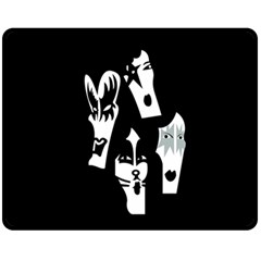 Kiss Band Logo Fleece Blanket (medium)