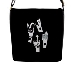Kiss Band Logo Flap Messenger Bag (l)