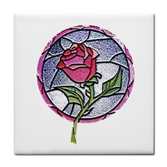 Beauty And The Beast Rose Tile Coasters