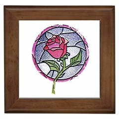 Beauty And The Beast Rose Framed Tiles