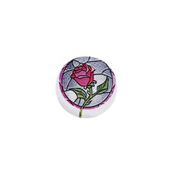 Beauty And The Beast Rose 1  Mini Magnets