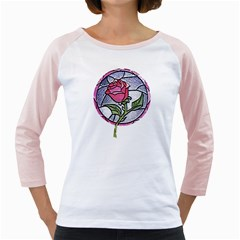 Beauty And The Beast Rose Girly Raglans