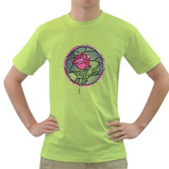 Beauty And The Beast Rose Green T Shirt