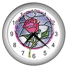 Beauty And The Beast Rose Wall Clocks (silver)