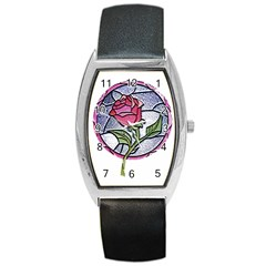 Beauty And The Beast Rose Barrel Style Metal Watch