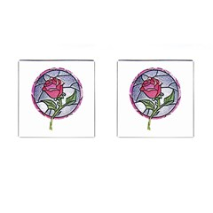 Beauty And The Beast Rose Cufflinks (square)