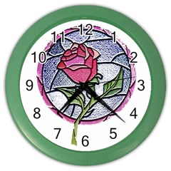 Beauty And The Beast Rose Color Wall Clocks
