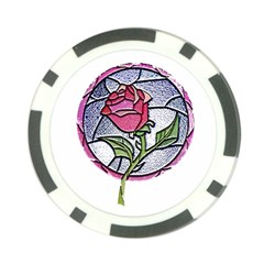 Beauty And The Beast Rose Poker Chip Card Guard