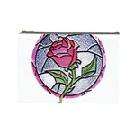 Beauty And The Beast Rose Cosmetic Bag (Large)  Front