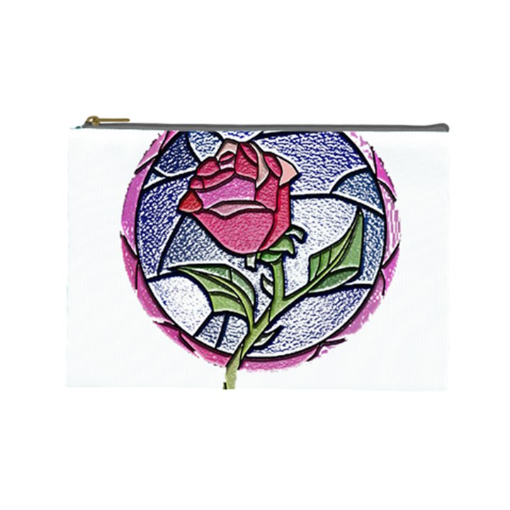 Beauty And The Beast Rose Cosmetic Bag (Large)