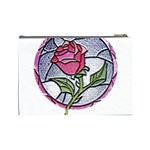 Beauty And The Beast Rose Cosmetic Bag (Large)  Back