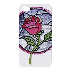 Beauty And The Beast Rose Apple Iphone 4/4s Premium Hardshell Case