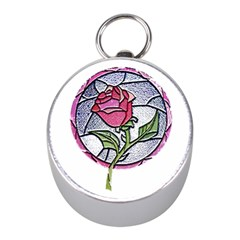 Beauty And The Beast Rose Mini Silver Compasses