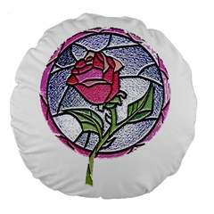 Beauty And The Beast Rose Large 18  Premium Flano Round Cushions