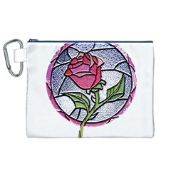 Beauty And The Beast Rose Canvas Cosmetic Bag (xl)